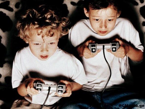 ბავშვები თამაშის პროცესში